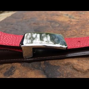 Burberry Accessories - Nice Burberry leather belt and silver buckle combo